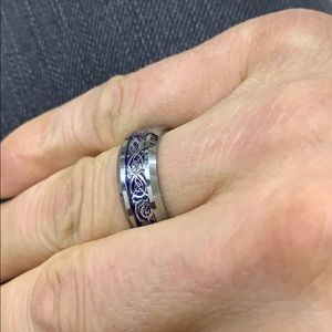 Tungsten Carbide Fashion Wedding Band Ring